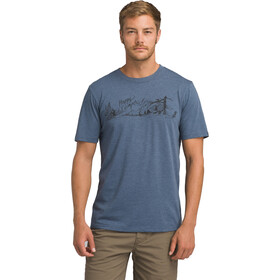 Prana Trail SS T-Shirt Herren denim heather
